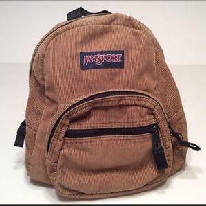 Vintage Jansport corduroy half pint small backpack